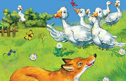 Сказка Лиса и гуси